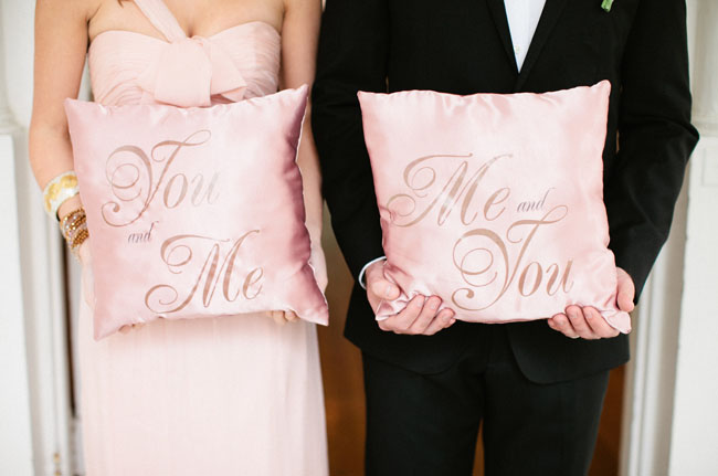 pink valentines pillow