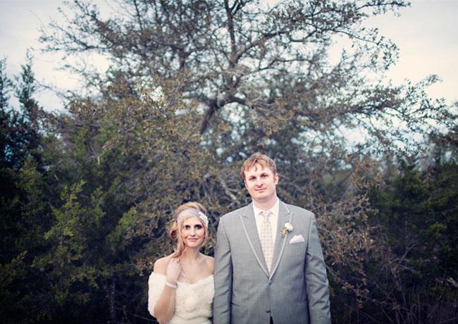 groom in gray suit