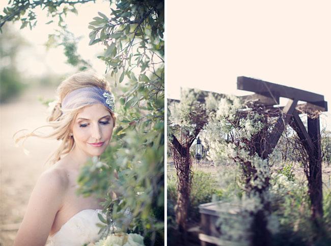 bride with handband