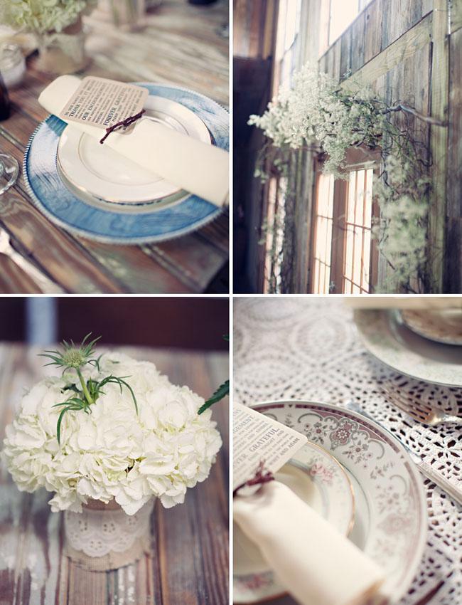 vintage rustic wedding details