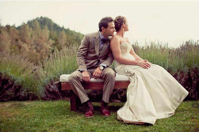 bride and groom ranch wedding