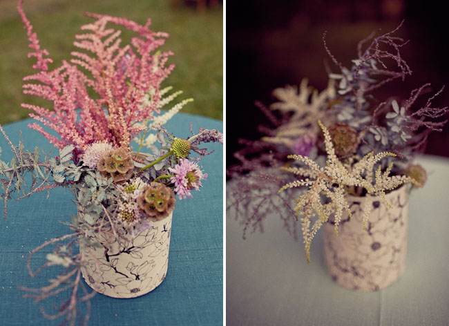 pretty rustic wildflower arrangements
