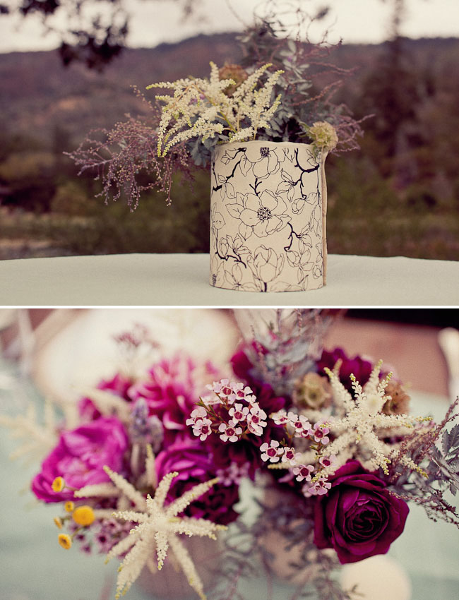 pretty rustic wildflower arrangements