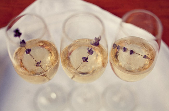 champagne with flowers