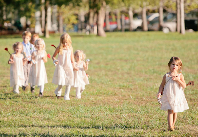 flower girls with arrows