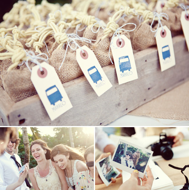 Burlap Bags Wedding Favors Green Wedding Shoes