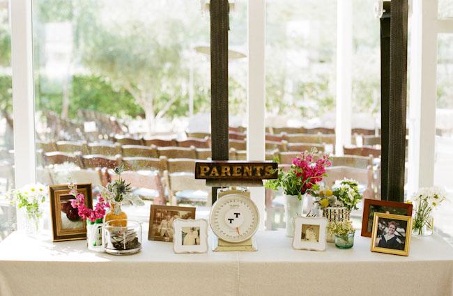 parents photographs table