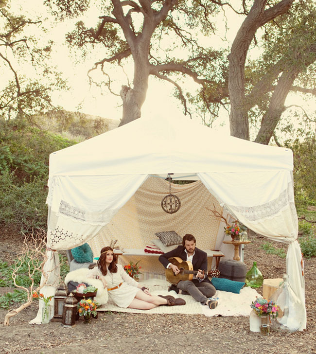 bohemian wedding tent