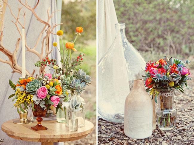 succulent bouquets, big jars