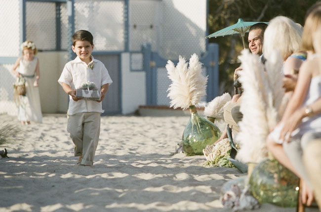 ring bearer beach wedding