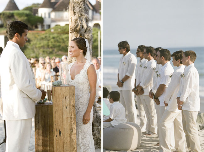 groomsmen wearing white