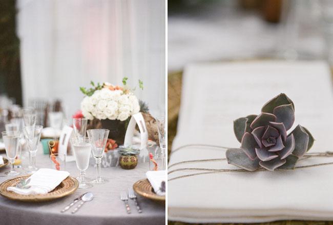 succulent napkin place holder