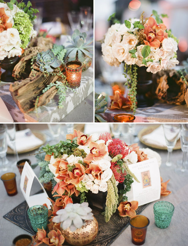 orange flower centerpieces