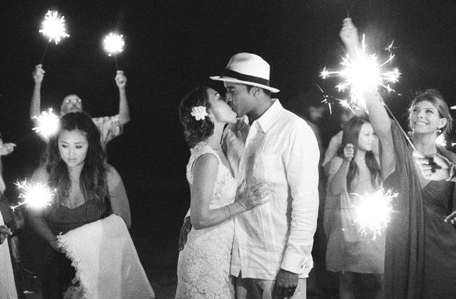 sparkler send off bride and groom
