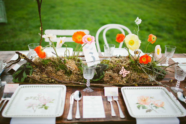 poppy centerpieces