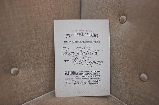 caligraphy wedding invitation