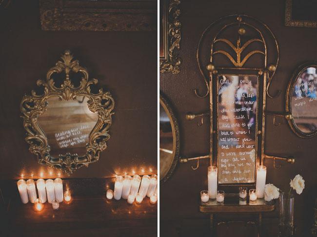 vintage frame ceremony altar