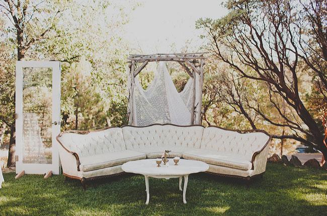white sofa lounge area