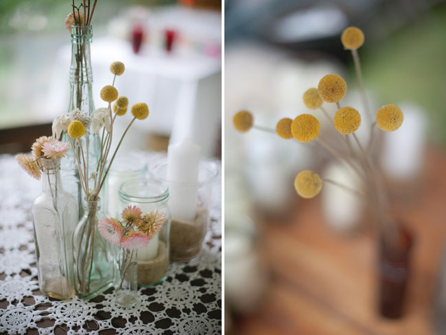 yellow billy ball centerpieces