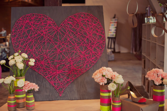 DIY giant string heart