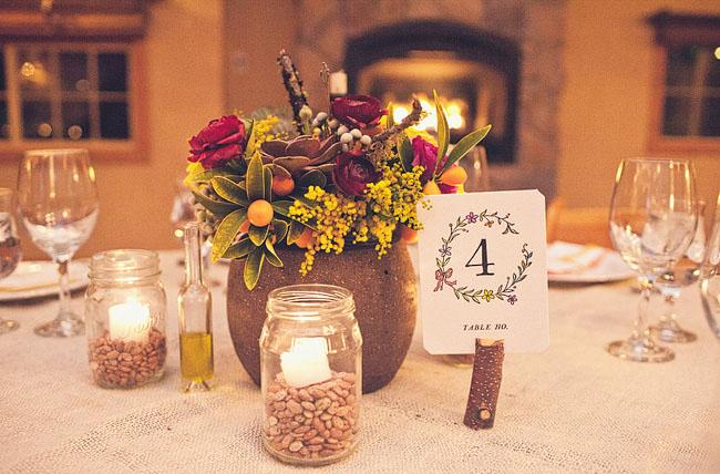 floral monogram table numbers