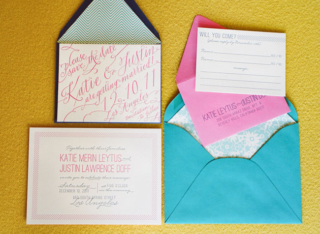 pink caligraphy invitation