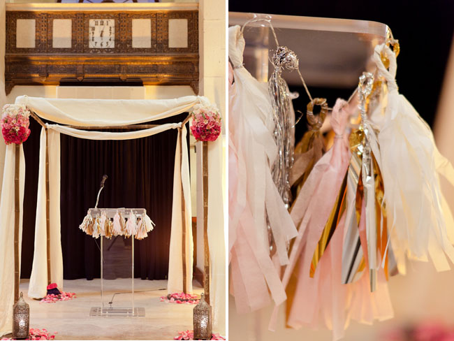tissue paper garland ceremony