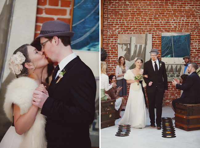 hipster wedding ceremony