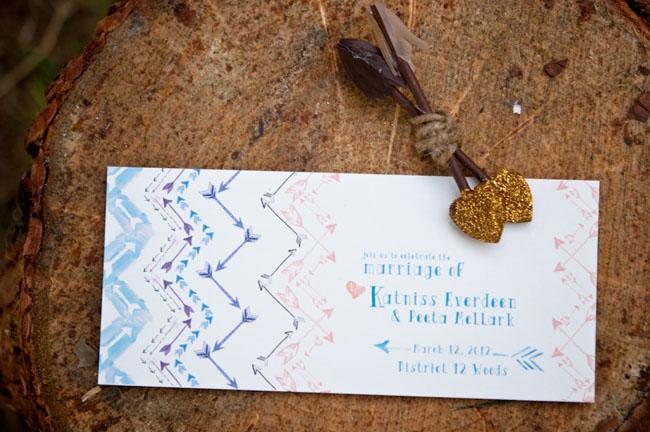 arrow inspired invitation