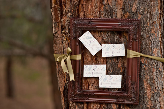 name cards in a frame