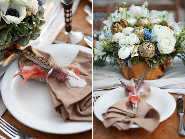 feather napkin ring