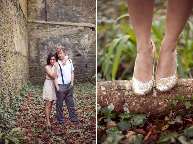 ireland castle engagement glitter shoes