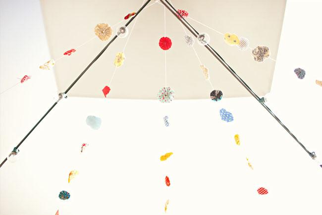 hanging paper circles