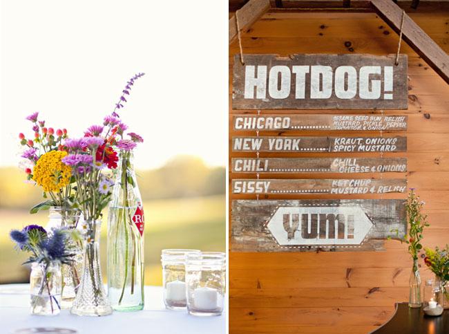 hot dog wedding menu