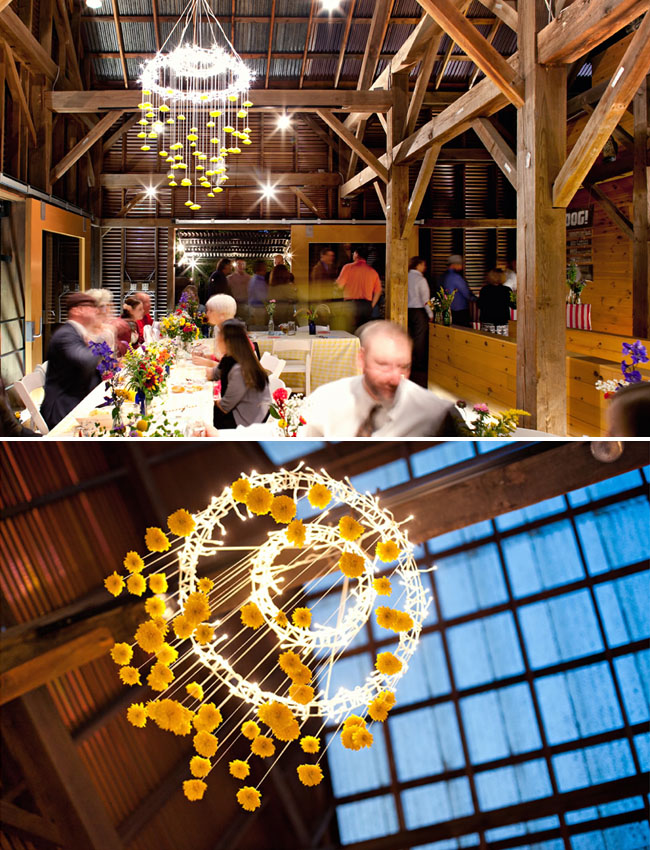 yellow billy ball chandelier
