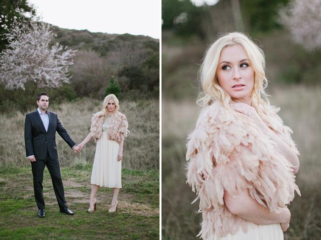 engagement, feather cardigan