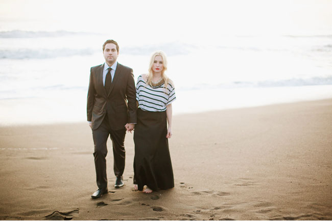 couple engagement on a beach