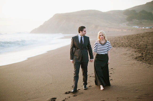 engagement on a beach