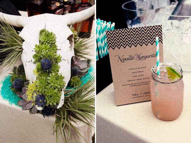succulents in steer skull, custom drink