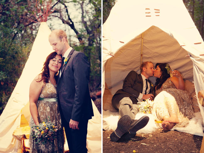 bride and groom tent