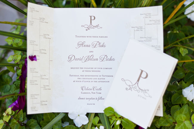 purple ink invitation