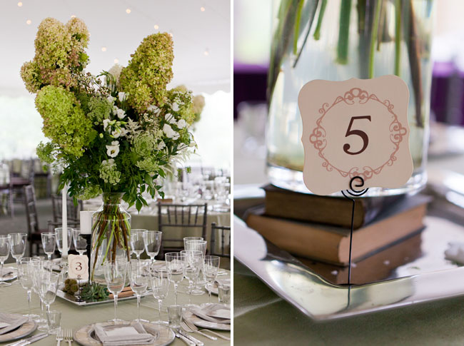 book table number centerpieces