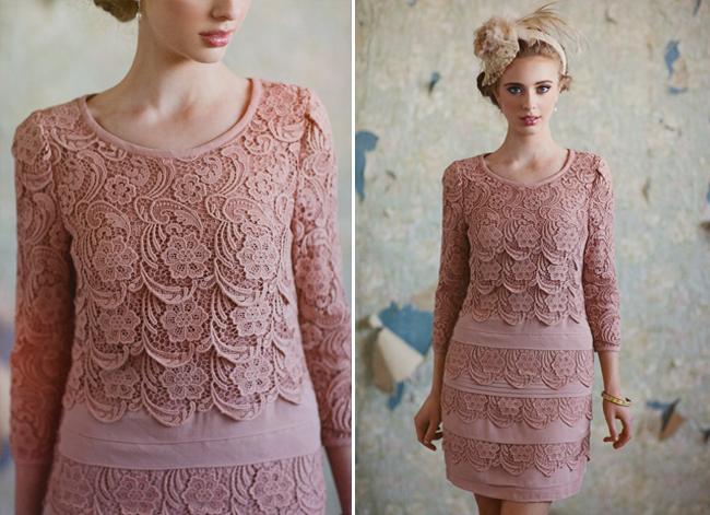 ruche pink bridesmaids dress