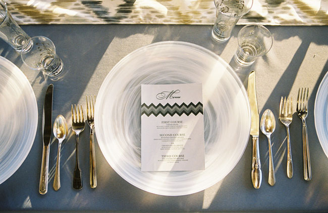 black and gray tablescape