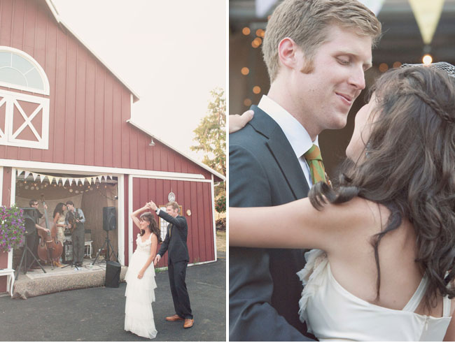 first dance barn wedding