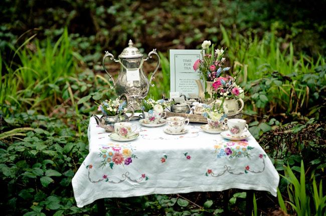tea time wedding table