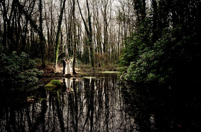 irish wedding inspiration, woods