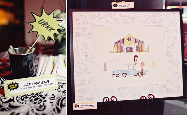 wedding illustration as guest book