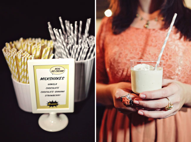 milkshakes at wedding