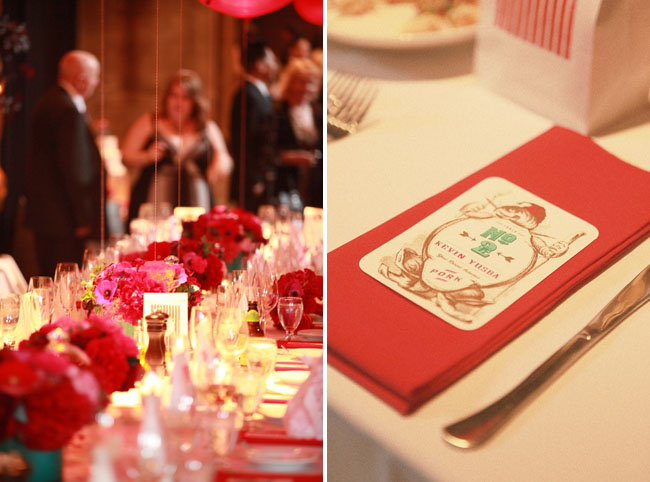 vintage circus wedding reception